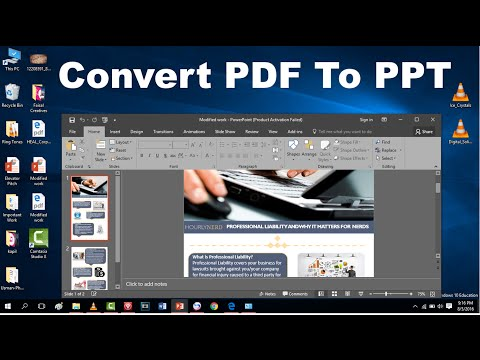 Hw to convert PDF to PPT Free The Easiest way