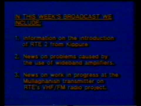 DX-TV RTE 1 TECHNICAL INFORMATION BROADCAST (1983)