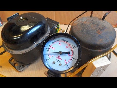 Fridge compressor as a vacuum pump? Measuring the vacuum.