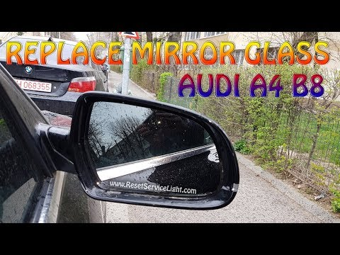 Finally I succeeded to buy and change my Audi A4 B8 glass mirror