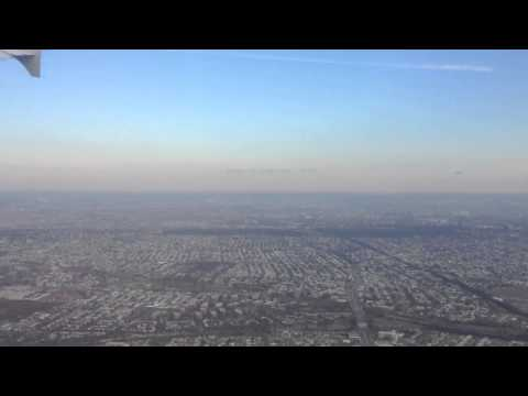 Takeoff from New York, JFK over South Brooklyn