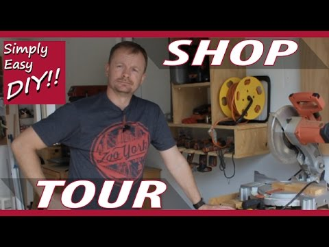 2 Car Garage Woodworking Shop Tour - Simply Easy DIY