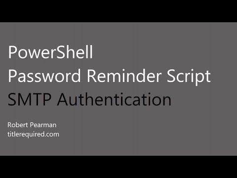 PowerShell Email Password Reminder - SMTP Credentials