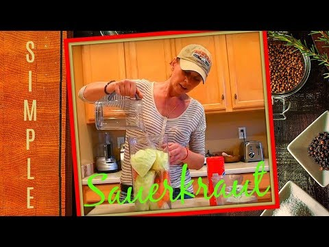 👩🏻🍳 How To Make Sauerkraut At Home In A Jar & Bucket - Easy Recipe - Fresh, Raw, Fermented