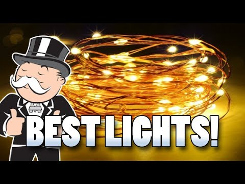 Christmas Lights Under $10! LED String Light Copper Wire 100 LEDs by Firecore