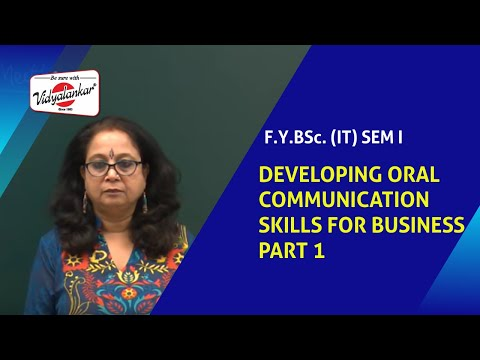 Developing Oral Communication Skills For Business Part 1