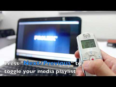 Using the PROLiNK PWP103G Wireless Presenter with LCD Display