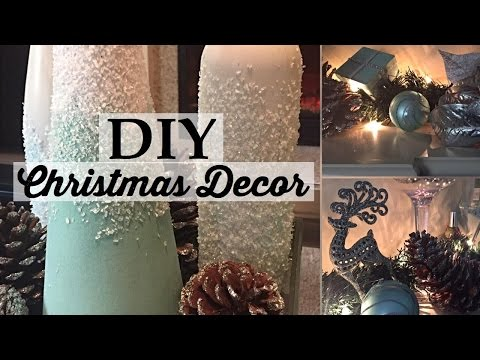 DIY Christmas Centerpieces and Fireplace Decorating