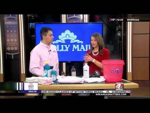 Molly Maid Shares Make Up Cleaning Tips on KARK TV