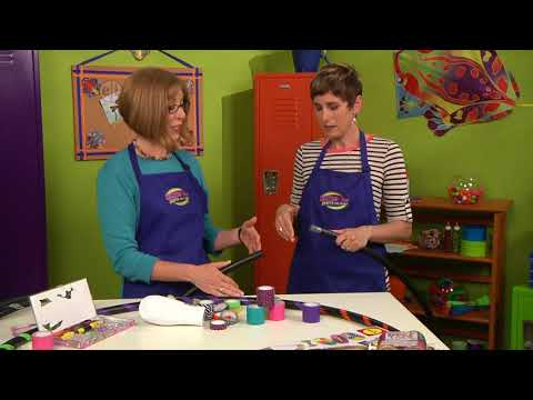 How to make a hula hoop on Hands On Crafts for Kids with Katie Hacker and Candie Cooper (1608-2)