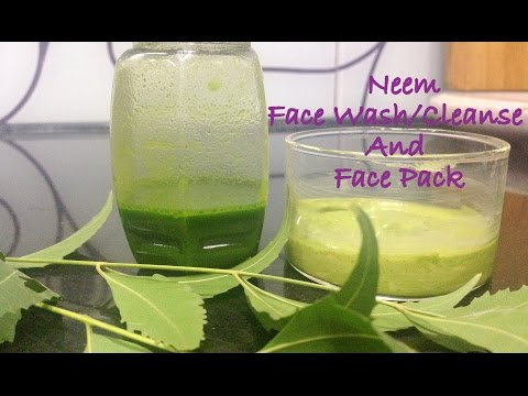 Homemade neem face pack and face wash/cleanser