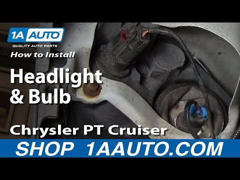 How To Install Replace Change Headlight and Bulb Chrysler PT Cruiser 01-05 1AAuto.com