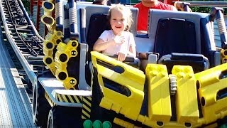 4 YEAR OLD KICKED OFF ROLLERCOASTER!