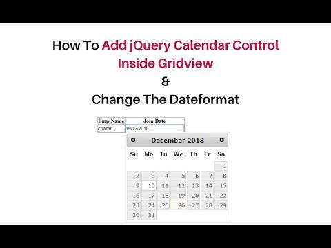 jquery calendar in gridview asp.net c#4.6