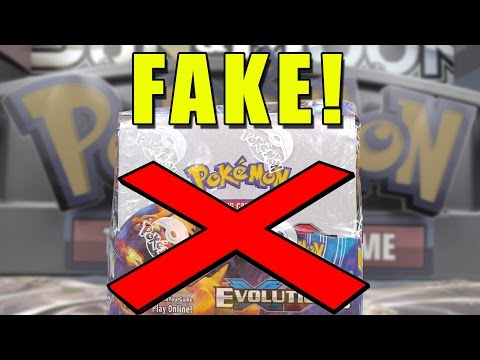Opening a FAKE Evolutions Booster Box of Pokemon Cards!