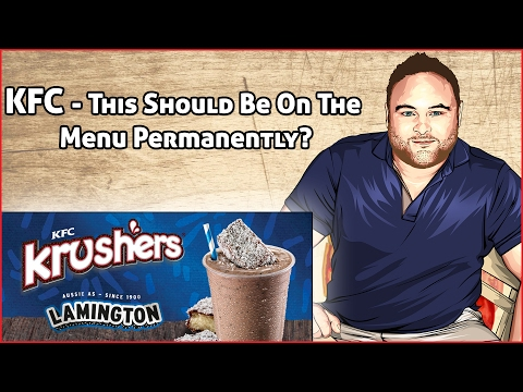 New Lamington Flavour - Limited Edition! KFC Krusher Drink Review
