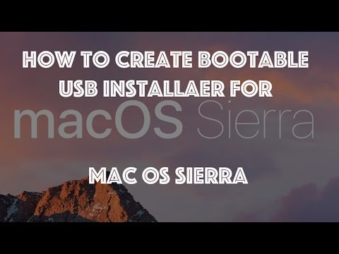 How to create bootable USB Install Disk for MacOS Sierra 10 12