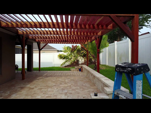 Modern Cedar Louvered Pergola in Covington Chase, Winter Garden, FL