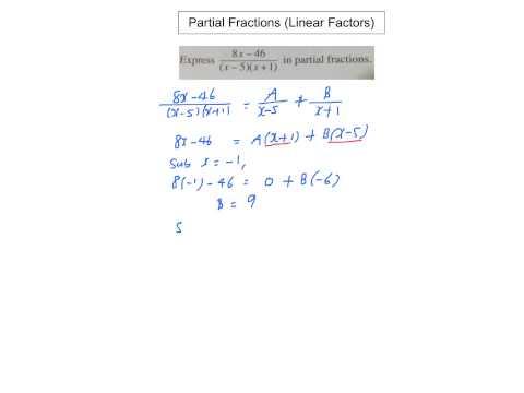Partial Fractions (Linear Factors)