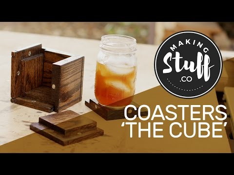 How to Make Wooden Coasters - The Cube - MakingStuff