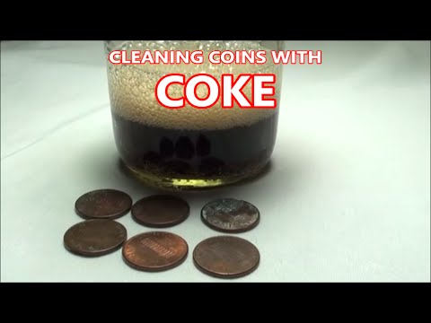 CLEANING PENNIES with COKE - Will COCA-COLA clean dirty coins?