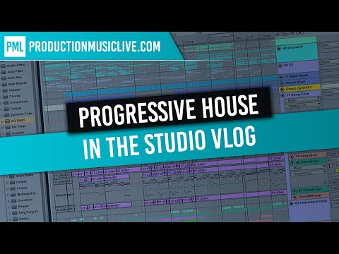 In the Studio Vlog - Working on Progressive House Ableton Project - Explaining Techniques 4K