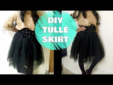 How to Sew a Tulle Skirt | DIY Tulle Skirt Easy Sewing