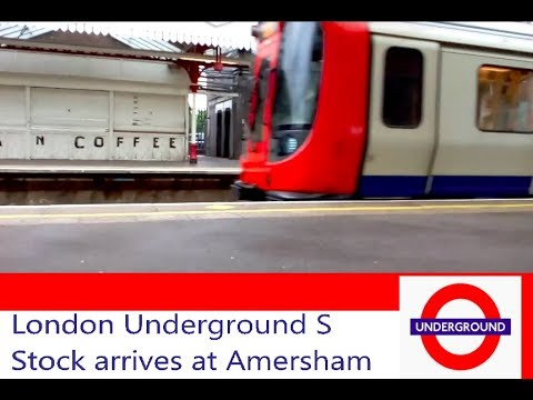London Underground S Stock arrives at Amersham