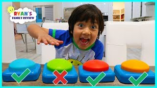 Download Don't Push The Wrong Button Challenge with Ryan's Family Review! Video