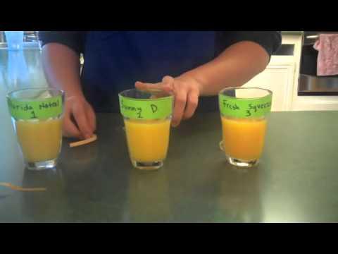 Vitamin C Content in Orange Juice