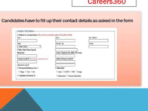 How to Fill MH CET Medical 2016 Application Form