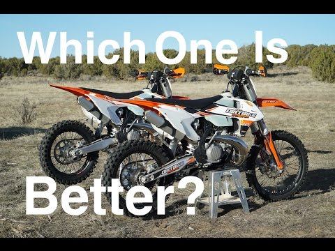 One is Better in the Desert Do you Know Which? - 2017 KTM 250 vs 300 Episode Episode 232