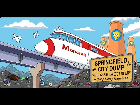 The Simpsons Tapped Out 5 Minutes of Best Monorail + Krustyland