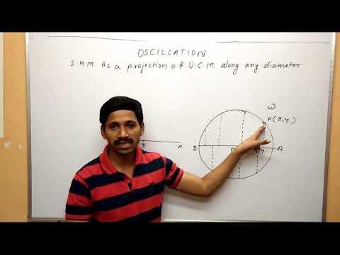 SHM as a Projection of UCM Along any Diameter Oscillation Maharashtra Board Physics Class 12