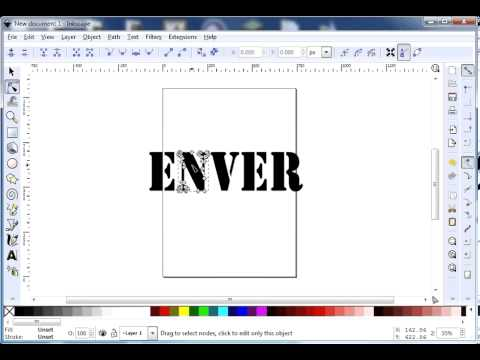 inkscape Text to vector