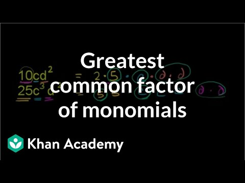 Finding the greatest common factor of two monomials | Algebra I | Khan Academy