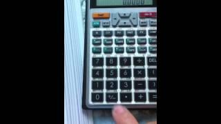 Irr Calculation With Even Cashflow By Financial Calculator Sharp El 7