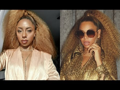 BEYONCE LONG NATURAL HAIR  tutorial w clip in extensions | Jessica Pettway