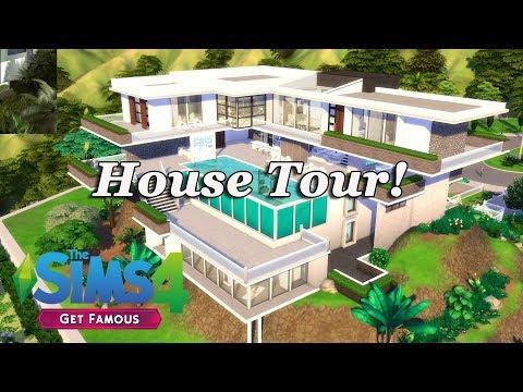 The Sims 4 - Mega Celebrity Mansion (HouseTour!) Get Famous - PakVim