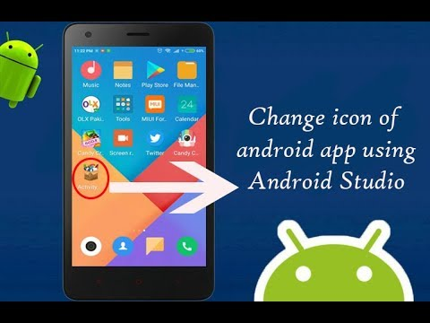 Change The App Icon in Android Studio 3 | Android App Development video #07