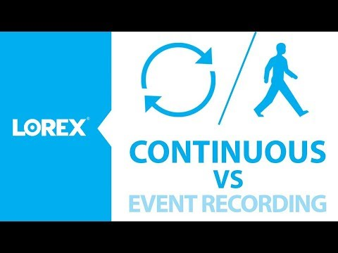 Differences between Continuous and Event Based recording options