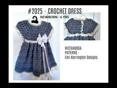 BABY GIRL- GREY DRESS, FREE crochet pattern, Newborn - 6 months, Great Baby Shower Gift, #2025