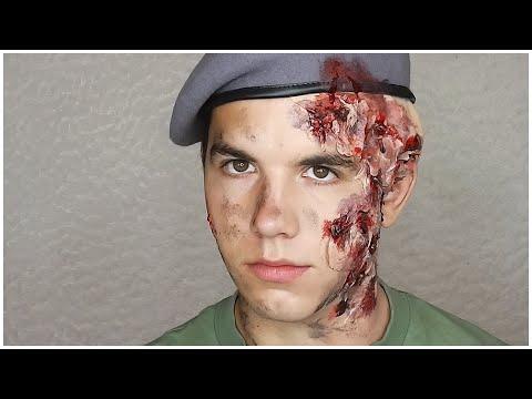 Voják popálený kyselinou/ Soldier Acid Burns MAKEUP TUTORIAL   Markéta Venená