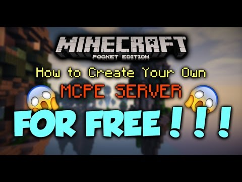 How Create Your Own MCPE SERVER For FREE 0.16.0!!! - Minecraft PE (Pocket Edition)