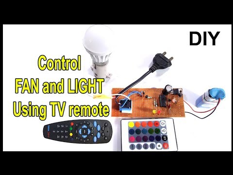 Control fan or light using TV remote| how to make