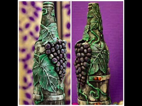 diy Bottle decorating ideas| Bottle decoration|Bottle art|Bottle Craft|Bottle Transformation|Grapes