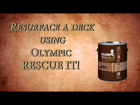 How to restore a deck with Olympic Rescue It! wood resurfacer