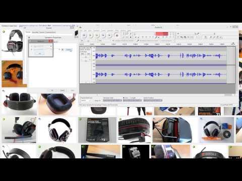 Plantronics gamecom 780 mic test -- recorded using audacity and camtasia 7 windows 8