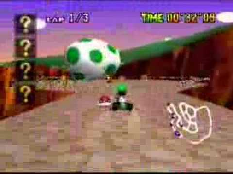 Mario Kart 64: Flying Red Shell