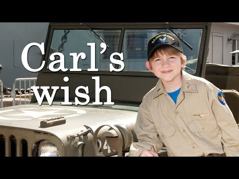 Carl's wish to be a WWII fighter pilot!